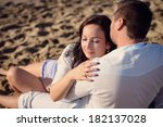 young and beautiful couple ... | Shutterstock . vector #182137028