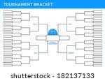tournament bracket | Shutterstock .eps vector #182137133