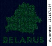 digital belarus logo. country... | Shutterstock .eps vector #1821371399