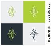 nature ornament logo. suitable... | Shutterstock .eps vector #1821383606