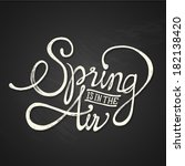 spring air   hand drawn... | Shutterstock . vector #182138420
