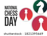 national chess day. holiday...   Shutterstock .eps vector #1821395669
