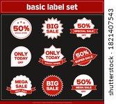 illustration label... | Shutterstock .eps vector #1821407543