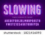led light 3d alphabet  extra... | Shutterstock .eps vector #1821416093