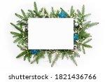 Christmas Frame With A Blank...