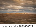 Distant View Of Arid Mountains...