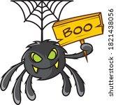 halloween spider vector funny... | Shutterstock .eps vector #1821438056