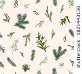 christmas seamless green...   Shutterstock .eps vector #1821443150