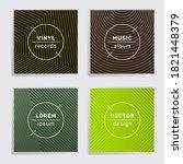 retro vinyl records music album ... | Shutterstock .eps vector #1821448379