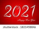 happy 2021 new year. vector... | Shutterstock .eps vector #1821458846