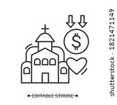 Church Donation Line Icon....