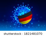 coronavirus or corona virus...   Shutterstock .eps vector #1821481070