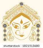 drawing or sketch of goddess... | Shutterstock .eps vector #1821513680