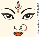 drawing or sketch of goddess... | Shutterstock .eps vector #1821514100