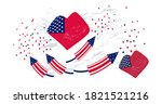 American Flag In The Shape Of ...