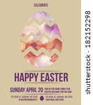 beautiful easter egg flyer... | Shutterstock .eps vector #182152298