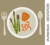 healty food background... | Shutterstock .eps vector #1821525230