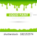 liquid paint background or frame | Shutterstock .eps vector #182152574