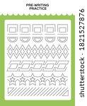 tracing practice for kids. pre...   Shutterstock .eps vector #1821527876