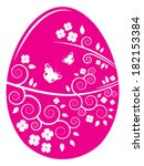 vector easter egg with... | Shutterstock .eps vector #182153384
