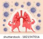 strong and healthy lungs are...   Shutterstock .eps vector #1821547016