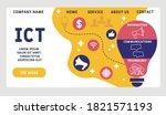 vector website design template .... | Shutterstock .eps vector #1821571193