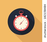 stopwatch flat style vector icon | Shutterstock .eps vector #182158484