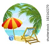 icon to the beach and sun... | Shutterstock .eps vector #182162270