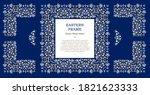 vector blue frame  vignette ... | Shutterstock .eps vector #1821623333