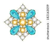 luxury golden brooch with... | Shutterstock .eps vector #182163059