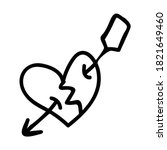 punk rock heart lineart vector...