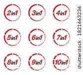 illustration set sign numbers ... | Shutterstock .eps vector #1821663236