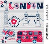 london card vector illustration