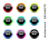 web buttons set on white... | Shutterstock . vector #182168270