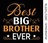 best big brother t shirt design ...   Shutterstock .eps vector #1821710576