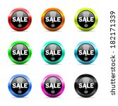 web buttons set on white... | Shutterstock . vector #182171339