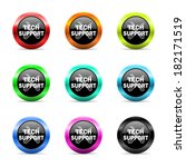 web buttons set on white... | Shutterstock . vector #182171519