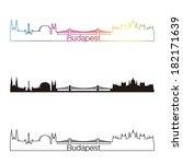 budapest skyline linear style... | Shutterstock .eps vector #182171639