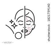 beauty clean skin icon  scrub...   Shutterstock .eps vector #1821759140