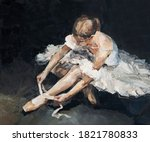 Young Beautiful Ballerina In...