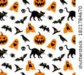 Seamless Pattern For Halloween. ...