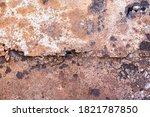 Texture Of Orange Rusty Wall....