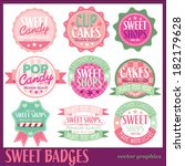 sweet badges with white... | Shutterstock .eps vector #182179628