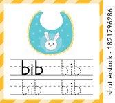 worksheet for tracing words  ... | Shutterstock .eps vector #1821796286