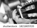 Music  Close Up. Musician With...