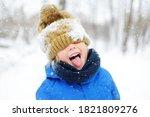 Funny Little Boy In Blue Winter ...