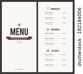 restaurant menu. flat design | Shutterstock .eps vector #182186006
