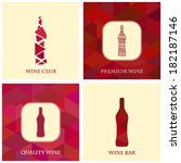 illustrations for wine ... | Shutterstock .eps vector #182187146