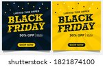 black friday event banners ... | Shutterstock .eps vector #1821874100