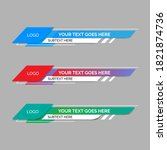 colorful lower thirds set... | Shutterstock .eps vector #1821874736